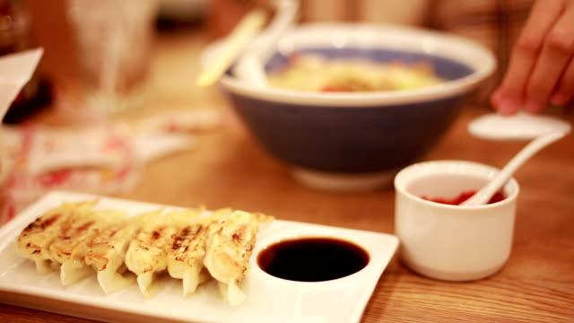Enjoys in Japanese restaurant