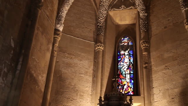 enna, interior view of the cathedral (duomo) - christianity stock videos & royalty-free footage