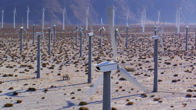Enormous Wind Farm Near Palm Springs - Drone Shot
