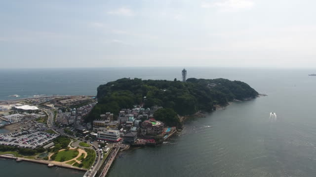 enoshima drone - kanagawa prefecture stock videos and b-roll footage