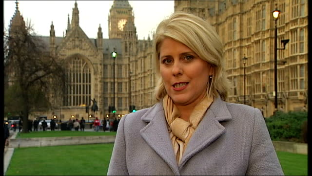enquiry into infected blood given to haemophiliacs; westminster: ext reporter to camera - infectious disease stock videos & royalty-free footage