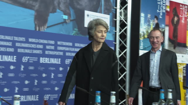 <<enter caption here>> at grand hyatt hotel on february 14, 2019 in berlin, germany. - charlotte rampling stock videos & royalty-free footage
