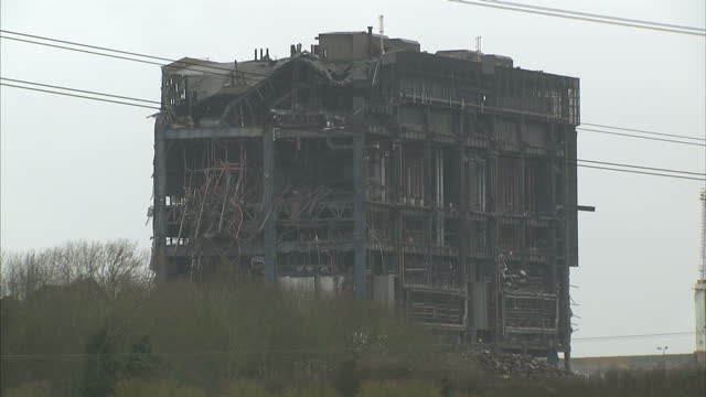 <> on march 01 2016 in didcot england the boss of the firm demolishing didcot power station which collapsed last week killing one... - didcot stock videos and b-roll footage