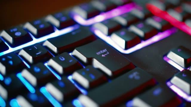 enter key - gaming keyboard - enter key stock videos & royalty-free footage