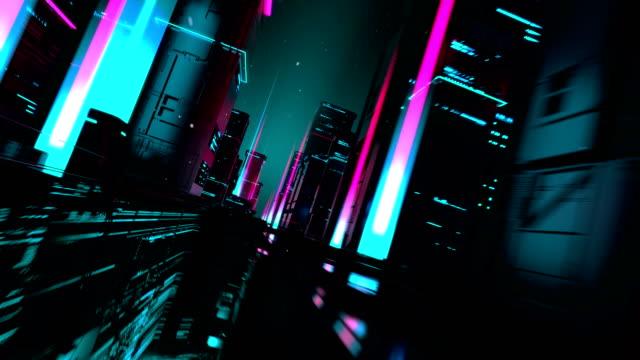 entering 3d digital city - illustrazione video stock e b–roll