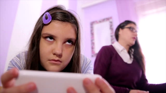 entering adolescence is a difficult period both for parents and for children - powerful stock videos and b-roll footage