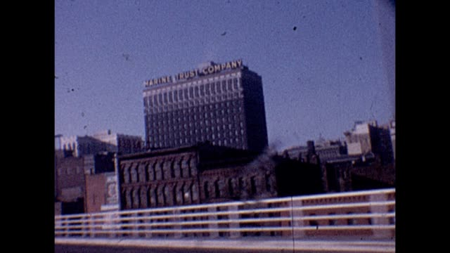 1961 entering buffalo new york - buffalo new york state stock videos & royalty-free footage