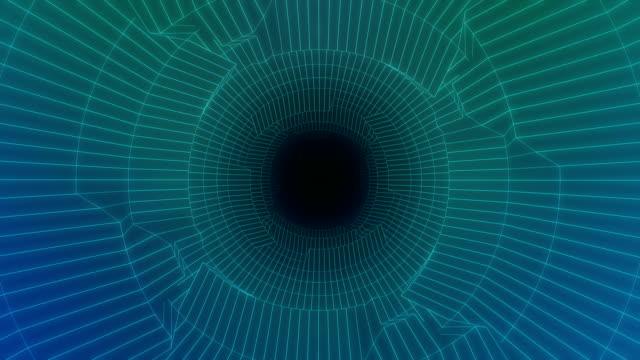 vidéos et rushes de entrer dans le tunnel de la technologie - image en mouvement loopable - résolution 4k - tunnel