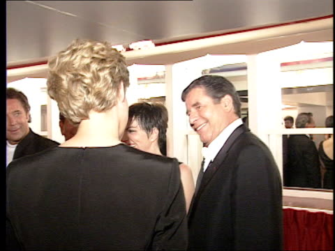 Entertainer to perform at the London Palladium LIB Lewis and Liza Minnelli talking with Diana Princess of Wales Lewis and Minnelli