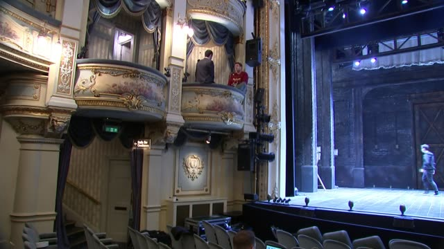 jason manford opening in comedy musical 'curtains' at the wyndham's theatre england london wyndham's theatre int jason manford interview sot general... - curtain stock videos & royalty-free footage