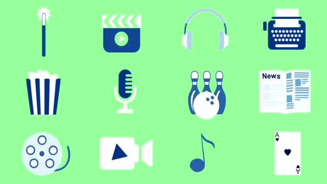entertainment & media animated icons - microphone stock videos & royalty-free footage