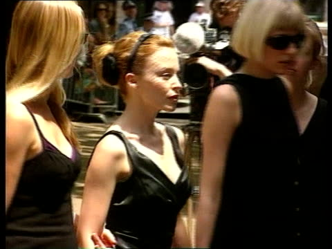 Michael Hutchence Funeral ITN Singer Tom Jones arriving Kylie Minogue arriving Jason Donovan arriving People arriving for service Paula Yates...
