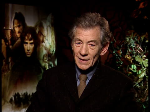 oscar nominations itn sir ian mckellen interview sot i'll have to look hard and long at the list/ there are five actors i really like - ian mckellen stock videos and b-roll footage