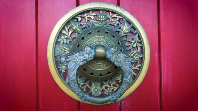 entrance door of buddhist monastery - ornate stock videos and b-roll footage