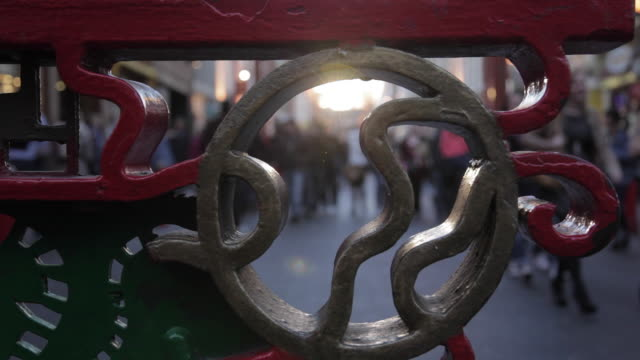 entrance gate to chinatown, london, england, uk, europe - chinatown stock videos & royalty-free footage