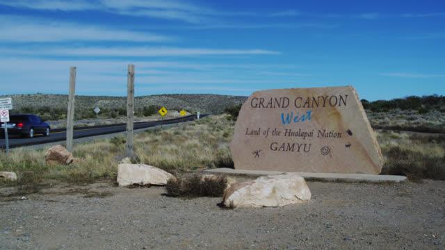 ms entrance of city on road / grand canyon, arizona, usa - grand canyon stock videos & royalty-free footage