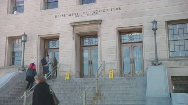 "ms  entrance of ""department of agriculture"" building / washington, d.c., united states - agriculture stock videos & royalty-free footage"