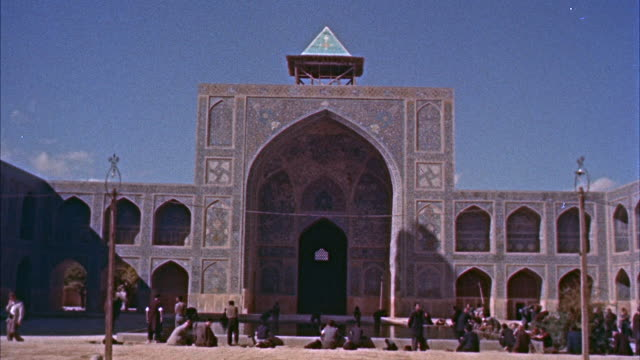 ms entrance of masjid shah mosque  - iran stock videos and b-roll footage