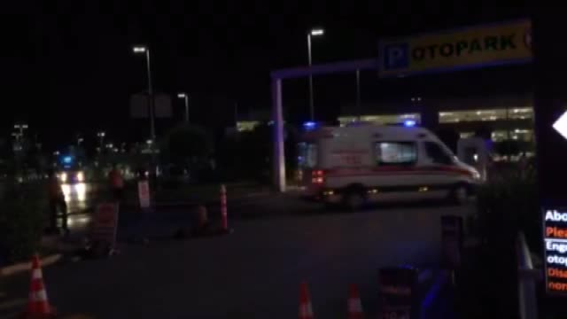 entrance of the ataturk international airport after an explosion in istanbul turkey on june 28 2016 unspecified number of injured in explosion at... - 2016年点の映像素材/bロール
