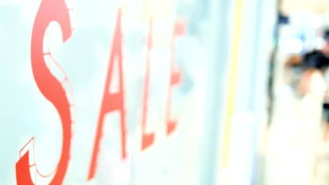 entrance sale!!! - shopaholic stock videos & royalty-free footage