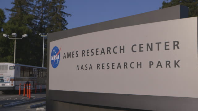 entrance to nasa ames research park - entrance sign stock videos & royalty-free footage