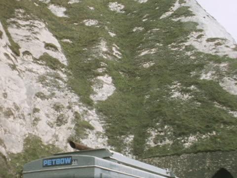 entrance to preparatory tunnel at the channel tunnel project - la manica video stock e b–roll