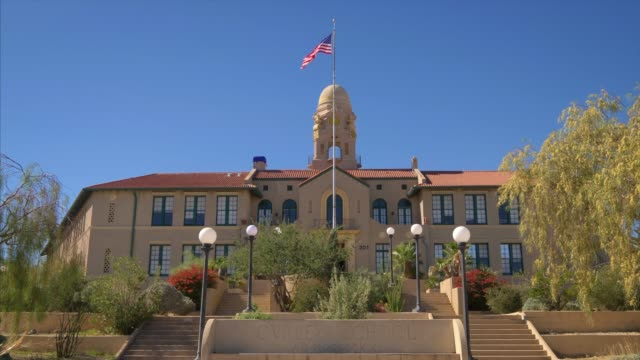 stockvideo's en b-roll-footage met entrance to the curley school artist community in ajo, arizona - arizona