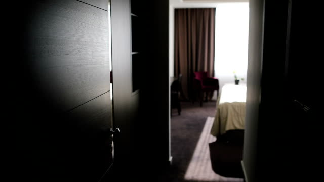 entrance to the hotel room - bedroom stock videos & royalty-free footage