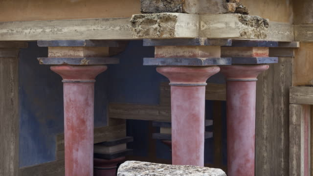 Entrance to the ritual baths in Knossos palace, Crete Island, Greece