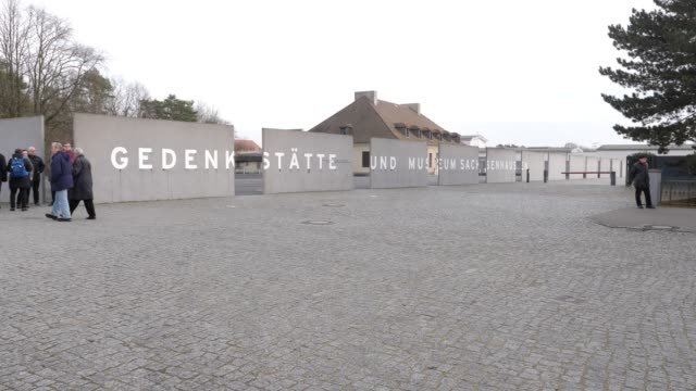 entrance to the sachsenhausen concentration camp memorial on january 27 2020 in oranienburg germany january 27th will mark the 75th anniversary of... - prison camp stock videos & royalty-free footage