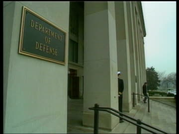 entrance to us department of defense - united states department of defense stock videos & royalty-free footage