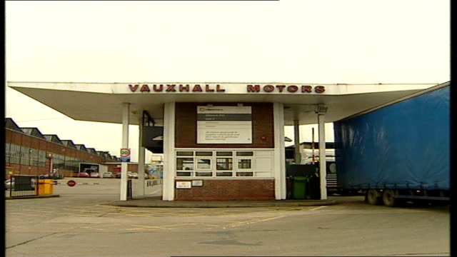 Entrance to Vauxhall Motors general views ENGLAND Cheshire Ellesmere Port EXT Entrance to Vauxhall Motors / sign showing directions to parts of plant...