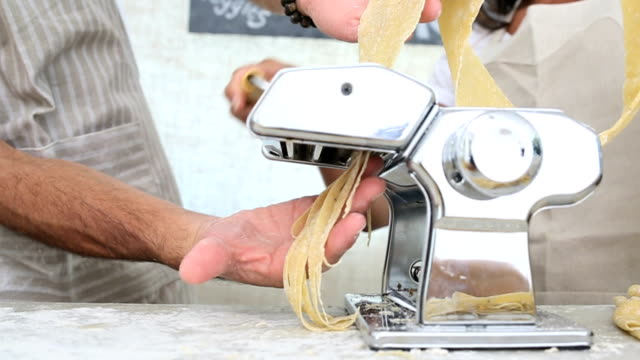 entrepreneurs at their organic market stall - tagliatelle stock videos and b-roll footage