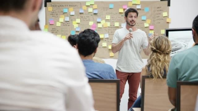 Entrepreneurs attending networking event