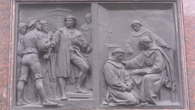 entry of martin luther in the abbey - martin luther religious leader stock videos & royalty-free footage