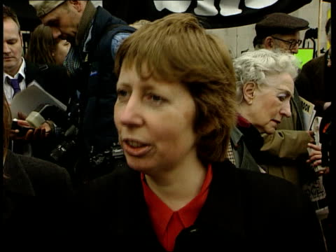 Genetically Modified Food High Court Battle ITN Environmental protesters outside court CS 'Handbook for action' held Protesters outside court...