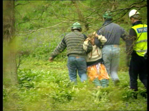 vidéos et rushes de m65 demo evictions **** for england lancashire blackburn stanworth wood lsm blue tit perched on branch amp flies away la ms 3 tree houses in treetops... - lancashire