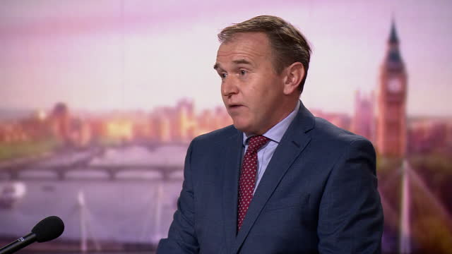"""environment secretary george eustace saying """"progress has been made"""" with the eu on certain aspects of the brexit withdrawal agreement - secretary stock videos & royalty-free footage"""