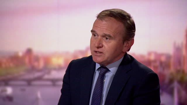 """environment secretary george eustice talking about the inquiry into government lobbying after the greensill controversy - """"bbc news"""" stock videos & royalty-free footage"""