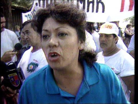 environment: tahiti: nuclear demos: greenpeace arrests; french polynesia: environment: tahiti: nuclear demos: greenpeace arrests; french polynesia,... - greenpeace stock videos & royalty-free footage