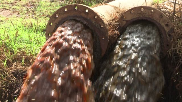 environmental activist mariette liefferink warns politicans from across the continent about the dangers of acid mine drainage in the hope that theyll... - drainage stock videos & royalty-free footage