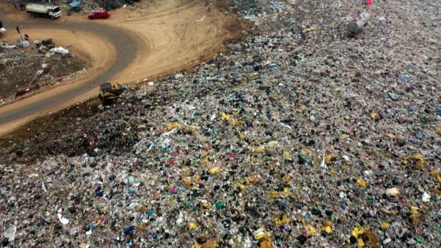 environmental damage : garbage dump - waste management stock videos & royalty-free footage