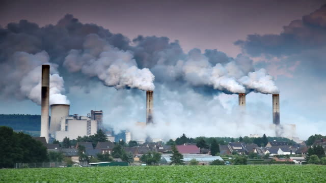 environmental damage - smoke stack stock videos and b-roll footage