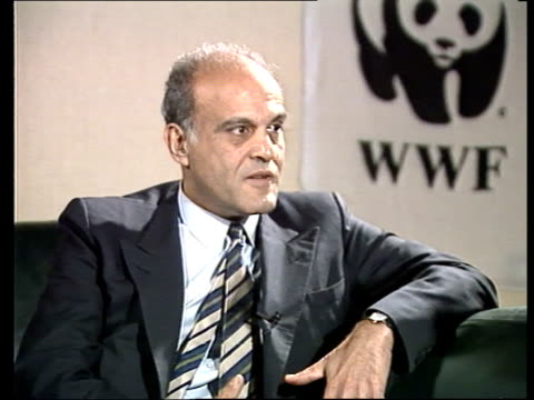 wwf campaign england london queen elizabeth conf centre ms magdi yacoub seated next another at world wildlife fund pkf gv yacoub prince philip seated... - prince philip stock videos & royalty-free footage