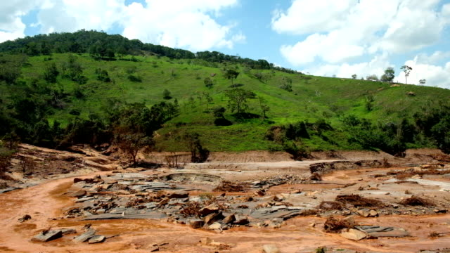 environmental disaster in mariana, minas gerais. consequences of the rupture of the dam in bento rodrigues - minas gerais stock videos and b-roll footage