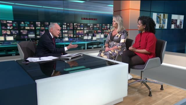 environmental impact of 'fast fashion' england london gir int basma khalifa and kate hardcastle live studio interview sot re fast fashion and... - impact stock videos and b-roll footage