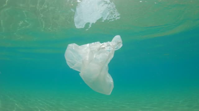 environmental issues: cleaning the ocean - shopping bag stock videos & royalty-free footage