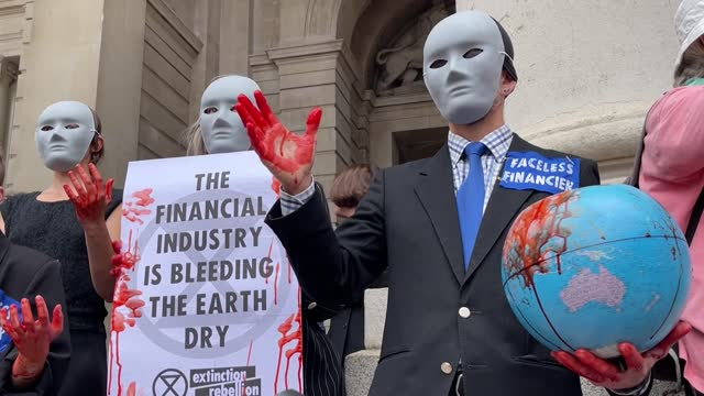 environmentalist group extinction rebellion members demanded stopping funding fossil fuels from banks and the government on august 27 in london, uk.... - drummer stock videos & royalty-free footage