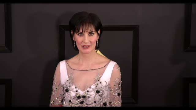 Enya at 59th Annual Grammy Awards Arrivals at Staples Center on February 12 2017 in Los Angeles California 4K