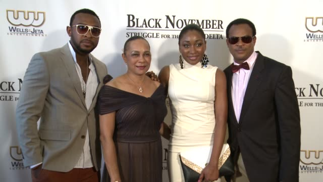 enyinna nwigwe annikio reid briggs mbong amata and fred amata at black november screening in washington dc at the john f kennedy center for... - john f. kennedy center for the performing arts stock videos & royalty-free footage